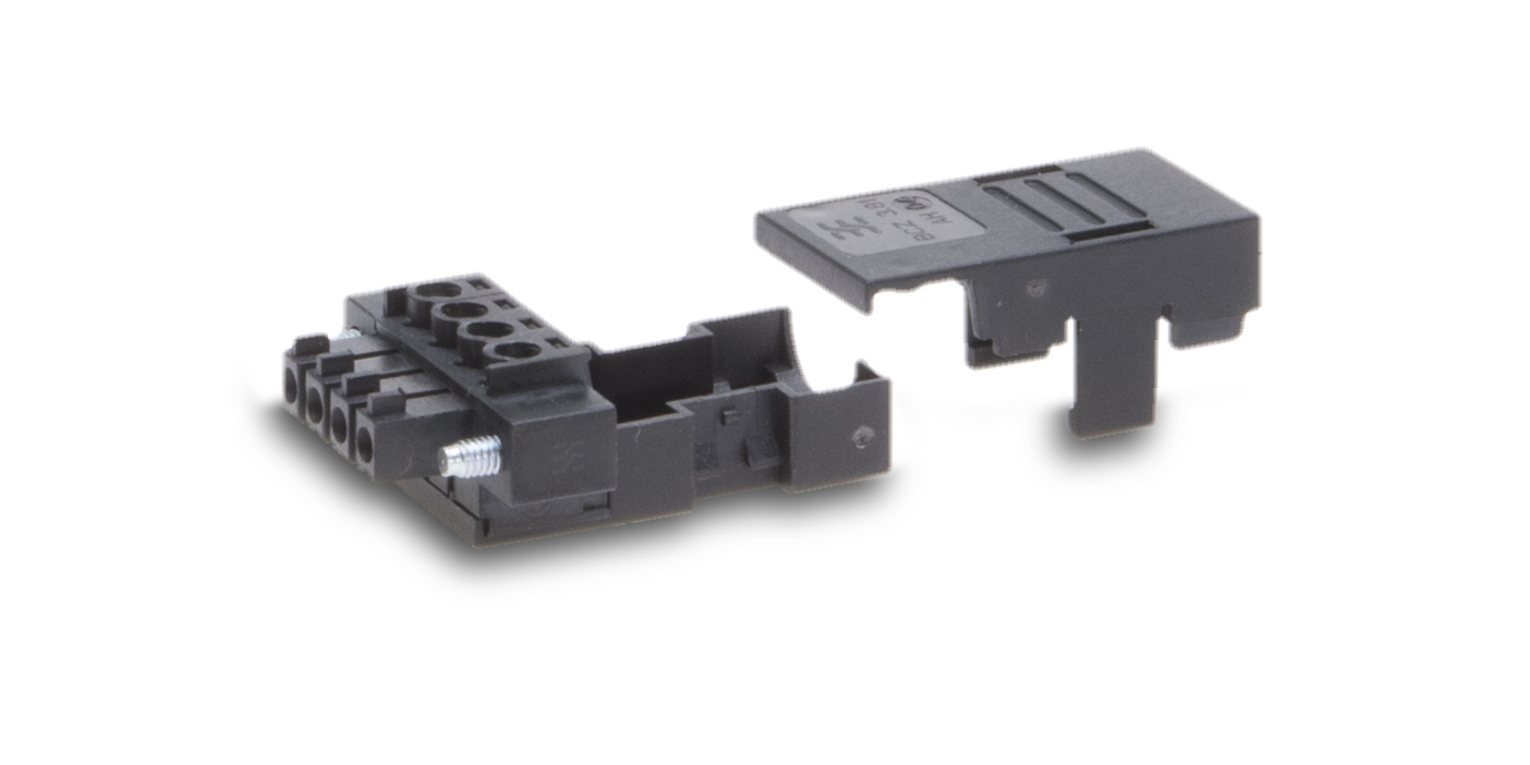 Weidmüller Power Plug: Integrated cable clips provide strain relief.
